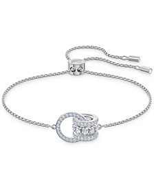 Crystal Interlocking Loops Slider Bracelet