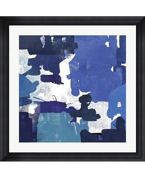 "Metaverse Block Paint II Blue by Posters International Studio Framed Art, 32"" x 32"""