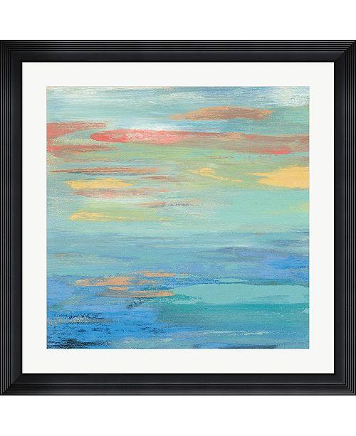"Metaverse Sunset Beach I Bright by Silvia Vassileva Framed Art, 32"" x 32"""