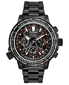 Eco-Drive Men's Chronograph Promaster Satellite Wave GPS Black Stainless Steel & Titanium Bracelet Watch 47mm - A Special 30th Anniversary Edition