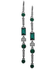 DKNY Hematite-Tone Crystal & Stone Linear Drop Earrings