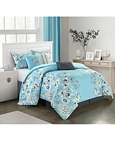 Diana 7-Piece  Queen Comforter Set