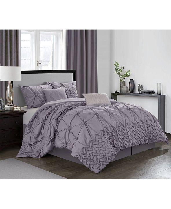 Nanshing Piercen 7-Pc. Queen Comforter Set