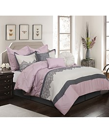 Claudette 7-Piece  Queen Comforter Set