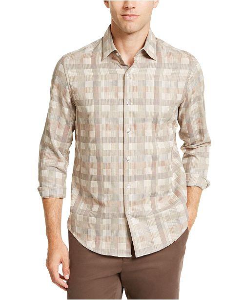 Tasso Elba Men's Box Plaid Shirt, Created For Macy's