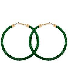 """Large Pavé Hoop Earrings 3"""""""