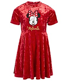 Little Girls Minnie Mouse Velvet Dress
