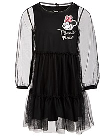 Little Girls Minnie Mouse Mesh Dress