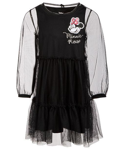 Disney Little Girls Minnie Mouse Mesh Dress