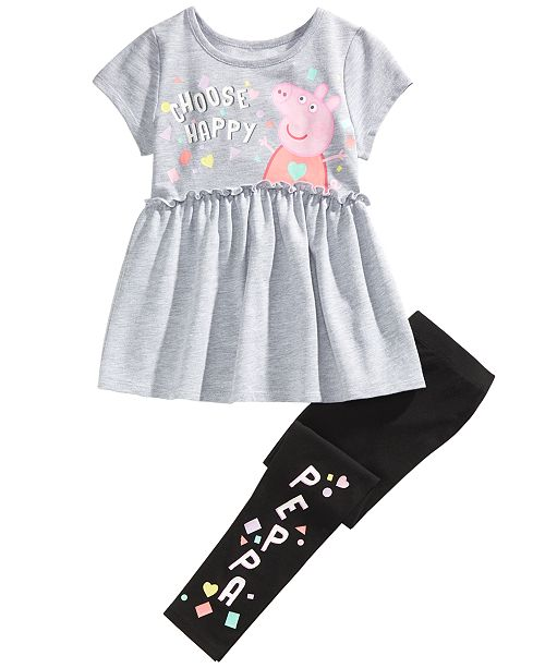 Peppa Pig Little Girls 2-Pc. Choose Happy Top & Leggings Set