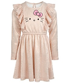 Hello Kitty Toddler Girls Graphic-Print Crinkle Dress