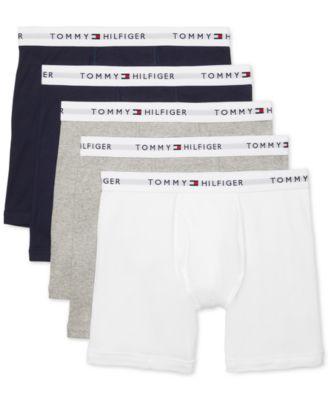 타미 힐피거 Tommy Hilfiger Mens 5-Pk. Cotton Classics Boxer Briefs