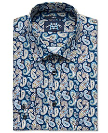 of London Men's Slim-Fit Stretch Paisley Dress Shirt