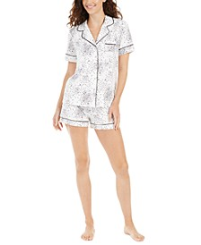 Super Soft Printed Top & Shorts Pajamas Set, Created For Macy's
