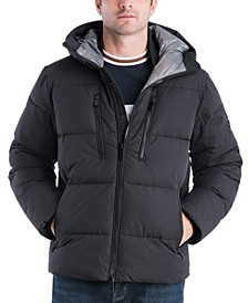Men's Norwich Hooded Puffer Hipster Jacket, Created for Macy's