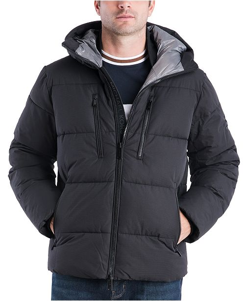 Michael Kors Men's Norwich Hooded Puffer Hipster Jacket, Created for Macy's