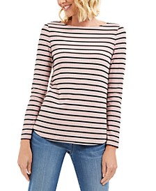 Ribbed Striped Top, Created for Macy's
