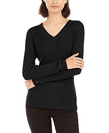Ivy Cable V-Neck Sweater, Created for Macy's