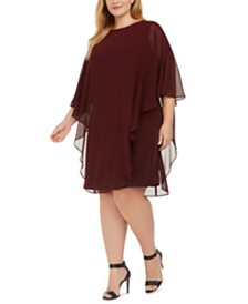 Connected Plus Size Overlay Dress