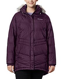 Columbia Plus Size Faux-Fur-Trim Hooded Puffer Coat