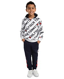 Little Boys Jayden Fleece Logo Hoodie & Chaka Sweatpants