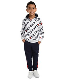 Tommy Hilfiger Little Boys Jayden Fleece Logo Hoodie & Chaka Sweatpants