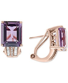 EFFY® Amethyst (7-3/4 ct. t.w.) & Diamond (1/6 ct. t.w.) in 14k Rose Gold(Also Available In Citrine and Green Quartz)