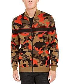 INC Men's Zip-Front Camo Sweater, Created for Macy's
