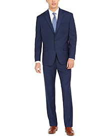 Men's Classic-Fit Mini-Grid Suit
