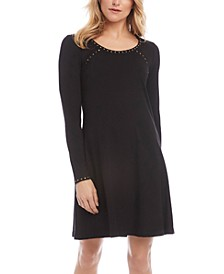Erin Studded Scoop-Neck Dress