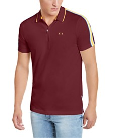 A|X Armani Exchange Men's Side Stripe Polo Shirt, Created for Macy's