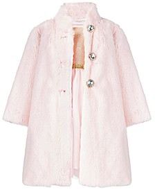 Baby Girls 2-Pc. Faux-Fur Coat & Dress Set