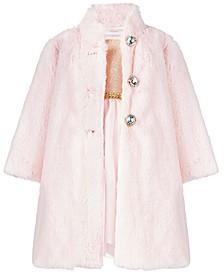 Baby Girls 2-Pc. Faux-Fur Coat & Dress Set