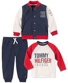 Tommy Hilfiger Baby Boys 3-Pc. Fleece Jacket, T-Shirt & Pants Set