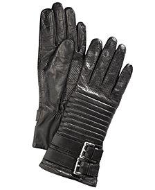 Michael Michael Kors Leather Moto Gloves