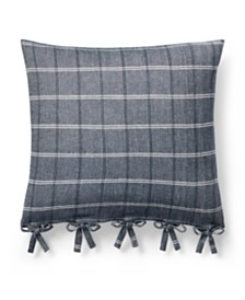 "Lauren Ralph Lauren Eva Windowpane 18"" Square Decorative Throw Pillow"