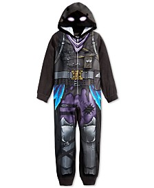 AME Little & Big Boys 1-Pc. Fortnite Hooded Pajamas