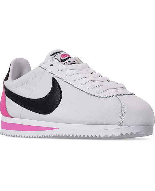 new product d5a71 bcdf3 Women's Classic Cortez Premium Casual Sneakers from Finish Line