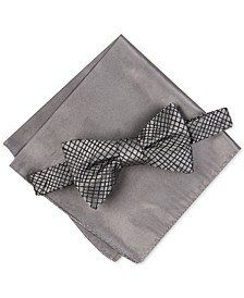 Men's Hudson Abstract Bow Tie & Pocket Square Set, Created For Macy's