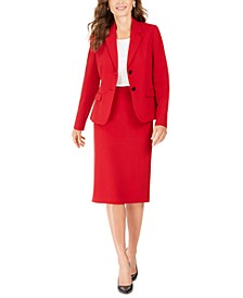 Crepe Two-Button Jacket & Midi Pencil Skirt