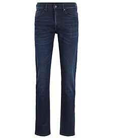 BOSS Men's Delaware BC-L-P Slim-Fit Dark-Blue Stretch Denim Jeans