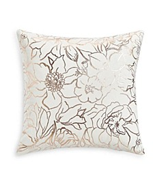 "Floral Silhouettes 18""x18"" Decorative Pillow, Created for Macy's"