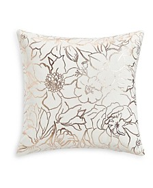 "Whim by Martha Stewart Collection Floral Silhouettes 18""x18"" Decorative Pillow, Created for Macy's"