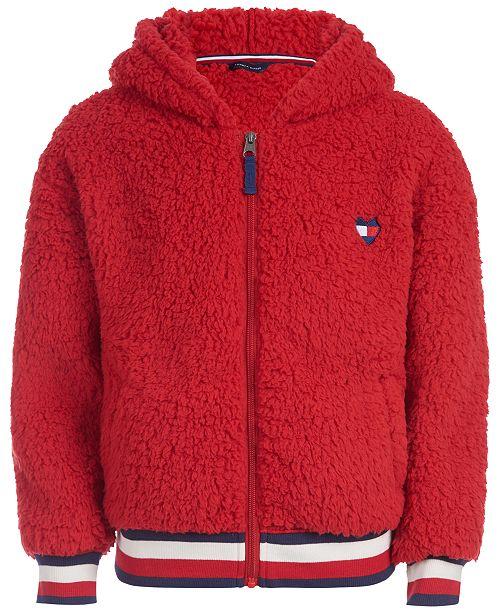 Tommy Hilfiger Little Girls Hooded Fleece Jacket