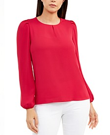 Puff-Sleeve Blouse