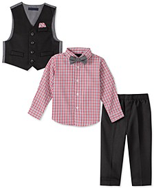 Baby Boys 4-Pc. Bowtie, Plaid Shirt, Vest & Pants Set