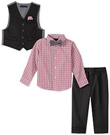 Nautica Baby Boys 4-Pc. Bowtie, Plaid Shirt, Vest & Pants Set