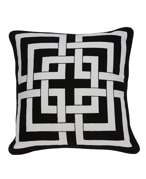 Parkland Collection Abali Transitional Black and White Pillow Cover
