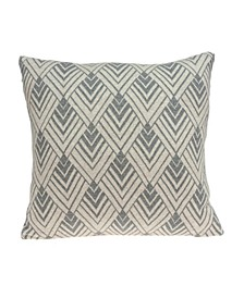 Kiani Transitional Tan Pillow Cover With Down Insert