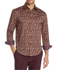 Tallia Men's Slim-Fit Stretch Multi Floral Long Sleeve Shirt